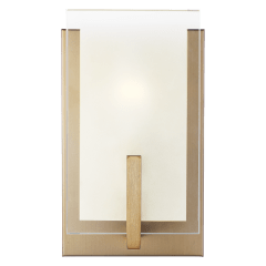Syll One Light Wall / Bath Sconce Satin Brass