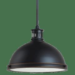 Pratt Street Metal Medium LED Pendant Autumn Bronze Bulbs Inc