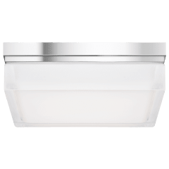 Boxie Large Flush Mount Large chrome 3000K 100 CRI incandescent 120v (t20)