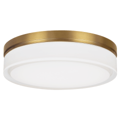 Cirque Large Flush Mount  Large Aged Brass 2700K 90 CRI led 90 cri 2700k 120v