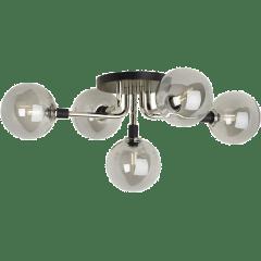 Viaggio Flush Mount Smoke/Polished Nickel no lamp
