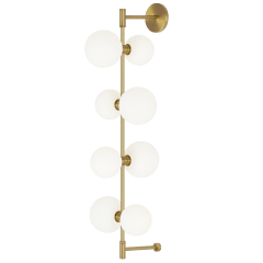 ModernRail Wall Glass Orbs Aged Brass 3000K 90 CRI 24v remote canopy (t24)