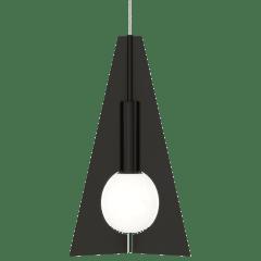 Mini Orbel Pyramid Pendant MonoPoint nightshade black 3000K 90 CRI integrated led 90 cri 3000k 120v