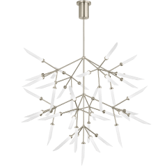 Spur Grande Chandelier Frost satin nickel 2700K 90 CRI led 90 cri 2700k 120v