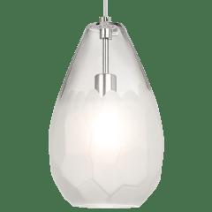 Briolette Grande Pendant Frost Satin Nickel No Lamp