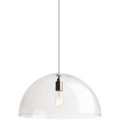 Duomo Pendant Standard Clear  Satin Nickel no lamp