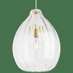 Harper Pendant Clear Natural Brass No Lamp