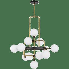 Viaggio Chandelier Opal/Brass no lamp