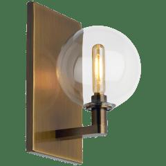 Gambit Single Wall Single Clear Aged Brass no lamp