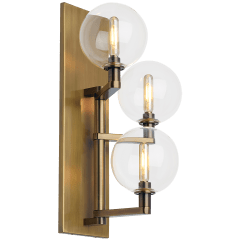 Gambit Triple Wall Triple Clear Aged Brass 2700K 90 CRI  led t6 90 cri 2700k 120v (t20/t24)