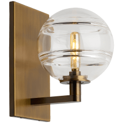 Sedona Wall Clear aged brass no lamp