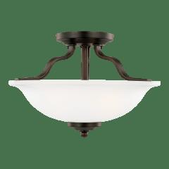 Emmons Two Light Semi-Flush Bronze