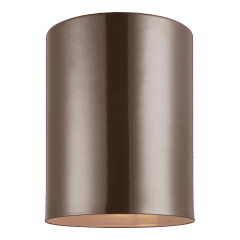 Outdoor Cylinders One Light Outdoor Flush Mount Bronze