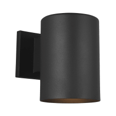 Outdoor Cylinders Small One Light Outdoor Wall Lantern Black