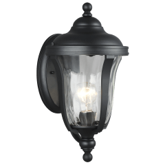 Perrywood Small One Light Outdoor Wall Lantern Black Bulbs Inc