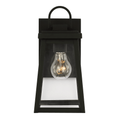 Founders Small One Light Outdoor Wall Lantern Black