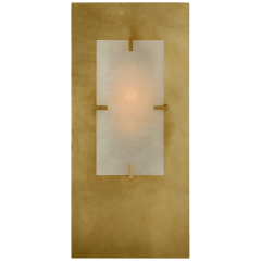 Dominica Rectangle Sconce in Gild and Alabaster