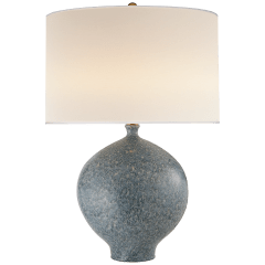Gaios Table Lamp in Blue Lagoon with Linen Shade
