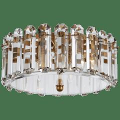 Bonnington Medium Flush Mount in Hand-Rubbed Antique Brass