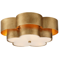 Arabelle Large Flush Mount in Gild with Frosted Acrylic