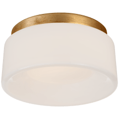 "Halo 5.5"" Solitaire Flush Mount in Gild with White Glass"