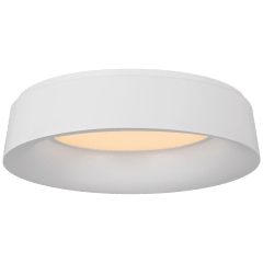 Halo Large Flush Mount in Matte White