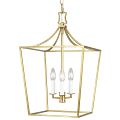 Southold Small Lantern Burnished Brass