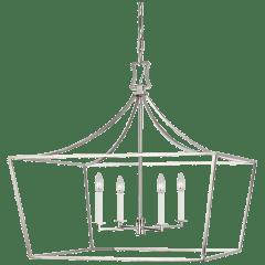 Southold Wide Lantern Polished Nickel