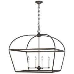 Stonington Wide Lantern Smith Steel