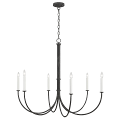 Champlain Large Chandelier Iron Oxide