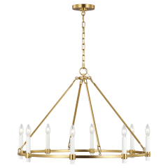 Marston Large Chandelier Burnished Brass