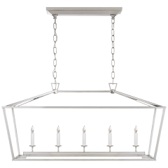 Darlana Medium Linear Lantern in Polished Nickel