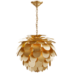 Cynara Large Chandelier in Gild