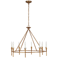 Aiden Large Ring Chandelier in Gilded Iron