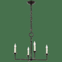Rowen Medium 4-Light Chandelier in Aged Iron