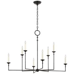 Rowen Grande 8-Light Chandelier in Aged Iron