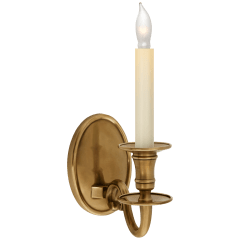 Grosvenor House Single Sconce in Antique-Burnished Brass