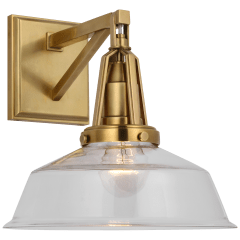 """Layton 10"""" Sconce in Antique-Burnished Brass with Clear Glass"""