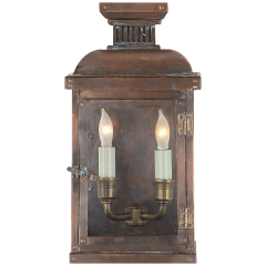 Suffork Small 3/4 Lantern in Natural Copper
