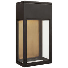 Irvine Small 3/4 Wall Lantern in Bronze with Clear Glass