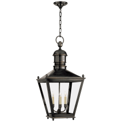 Sussex Large Hanging Lantern in Bronze