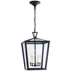 Darlana Small Hanging Lantern in Bronze
