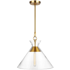 Atlantic Wide Pendant Burnished Brass