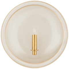 Leeds Large Round Sconce in Ivory