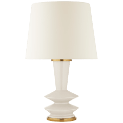 Whittaker Medium Table Lamp in Ivory with Linen Shade