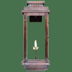 """Contempo 31"""" Wall Lantern in Antique Copper, Gas"""