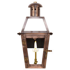 "Georgetown 15"" Wall Lantern in Antique Copper, Gas"