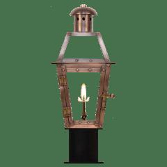 """Georgetown 15"""" Post Lantern in Antique Copper, Gas"""