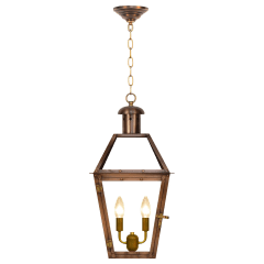 """Georgetown 20"""" Chain Mount Ceiling Lantern in Antique Copper, Electric"""