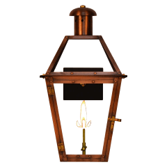 "Georgetown 22"" Wall Lantern in Antique Copper, Gas"
